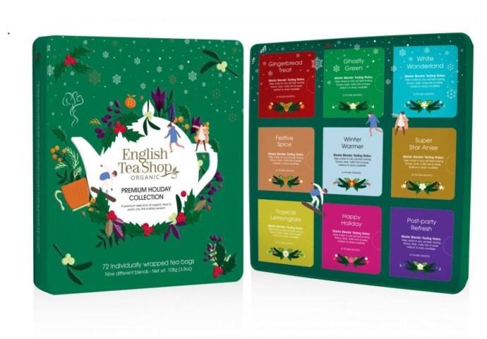 Zobrazit detail výrobku English Tea Shop Vánoční prémiová kolekce zelená Bio 72 Ks