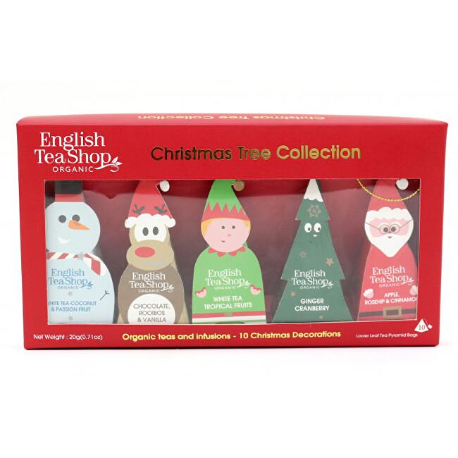 Zobrazit detail výrobku English Tea Shop Vánoční stromek - kolekce 10 pyramidek, 5 příchutí