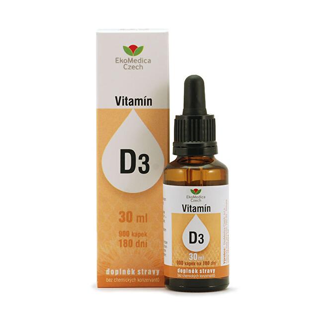 Zobrazit detail výrobku EkoMedica Czech Vitamín D3 v kapkách 30 ml
