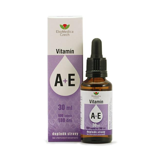 Zobrazit detail výrobku EkoMedica Czech vitamíny A + E v kapkách 30 ml