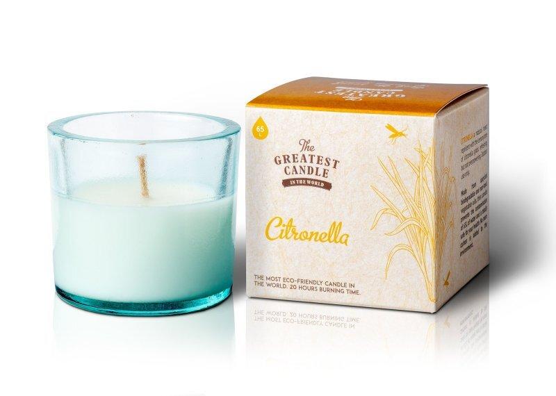 Zobrazit detail výrobku The Greatest Candle Vonná svíčka ve skle 75 g  citronela (s repelentním účinkem)