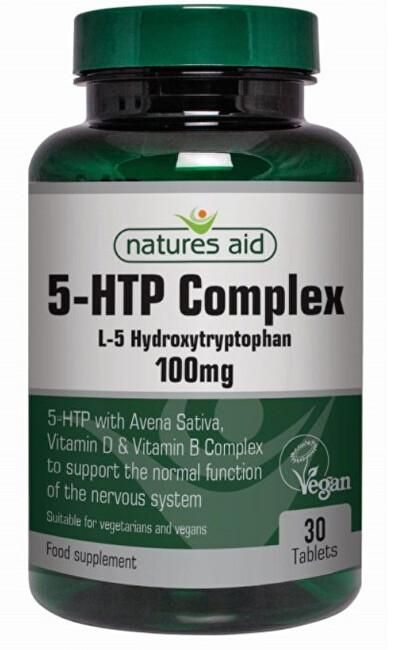 Zobrazit detail výrobku Natures Aid 5-HTP Complex 100 mg (L-5 Hydroxytryptofan) 30 tablet