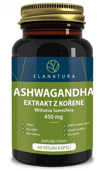 Zobrazit detail výrobku Elanatura Aswagandha extrakt 60 kapslí