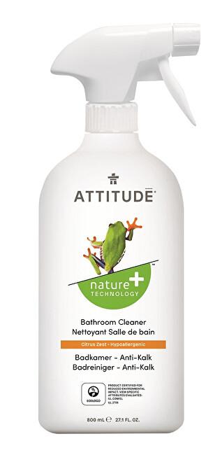 Zobrazit detail výrobku ATTITUDE Nature+ Čistič na koupelny ATTITUDE s vůní citronové kůry s rozprašovačem 800 ml - SLEVA - poškozená etiketa