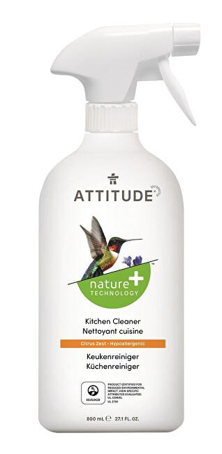 Zobrazit detail výrobku ATTITUDE Nature+ Čistič na kuchyně ATTITUDE s vůní citronové kůry s rozprašovačem 475 ml