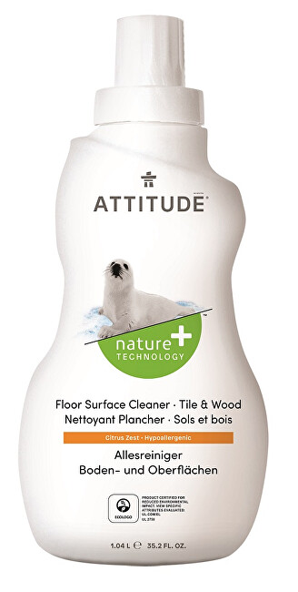 Zobrazit detail výrobku ATTITUDE Nature+ Čistič na podlahy a dřevo ATTITUDE s vůní citronové kůry 1040 ml