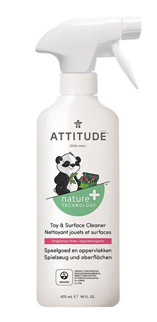 Zobrazit detail výrobku ATTITUDE Nature+ Čisticí prostředek na dětské povrchy/hračky ATTITUDE bez vůně s rozprašovačem 475 ml