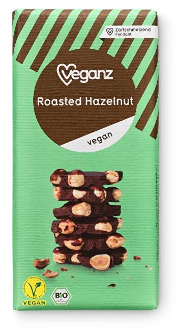 Zobrazit detail výrobku Veganz Čokoláda s praženými lískovými ořechy, Bio 80 g