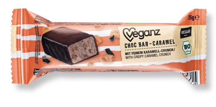 Zobrazit detail výrobku Veganz Čokoládová tyčinka s karamelem, Bio 35 g