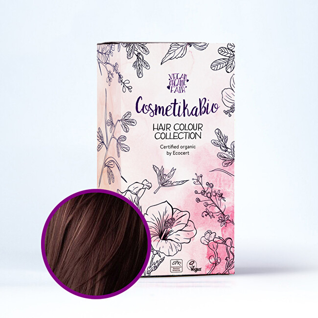 Zobrazit detail výrobku Cosmetikabio Cosmetikabio Hennová barva, tmavě hnědá 100 g