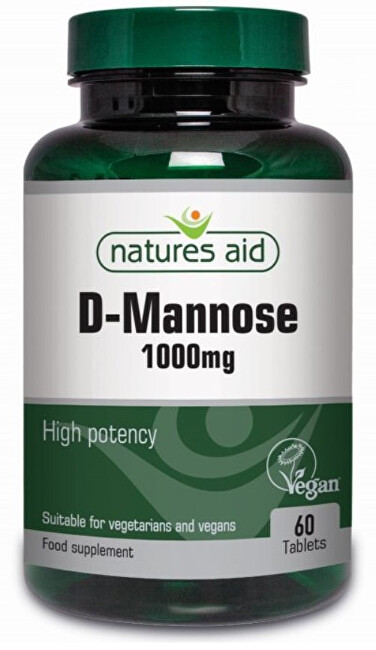 Zobrazit detail výrobku Natures Aid D-manóza 1000 mg 60 tablet