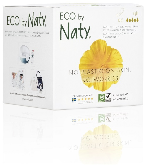 Eco by Naty Dámské ECO vložky Naty (10 ks) - noční