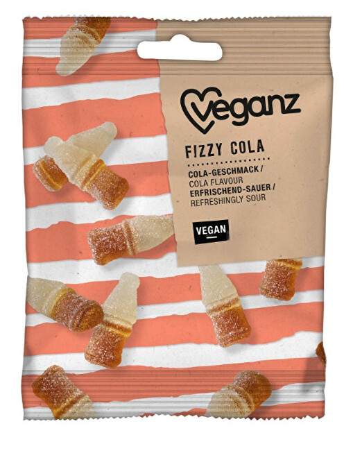 Zobrazit detail výrobku Veganz Fizzy cola gumové bonbónky 100 g