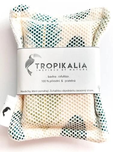 Zobrazit detail výrobku Tropikalia Kompostovatelná bavlněná houbička s přírodní celolózou