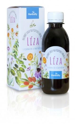 Zobrazit detail výrobku Herbally LÍZA bylinný sirup na podporu imunity s echinaceou a rakytníkem 200 ml