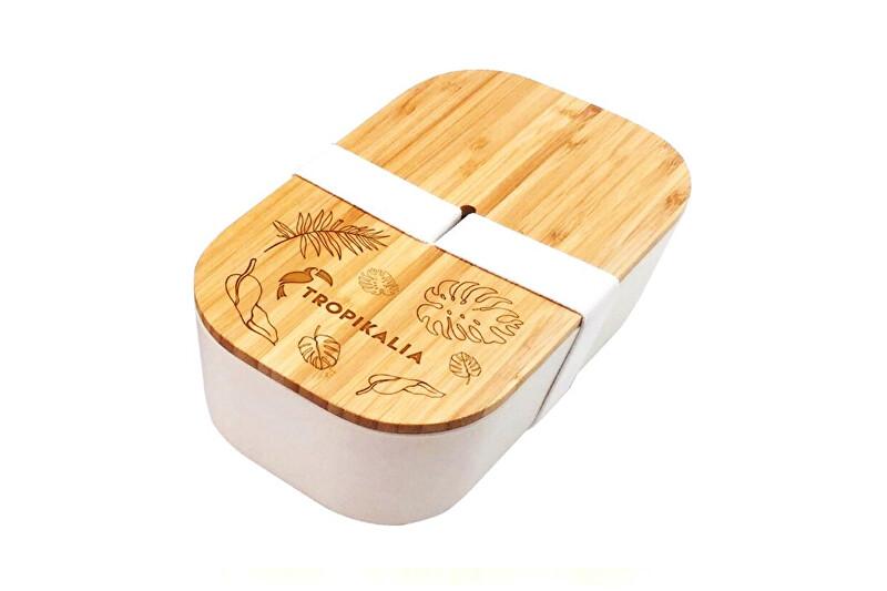 Zobrazit detail výrobku Tropikalia svačinový box L 1100 ml barva pásky bílá