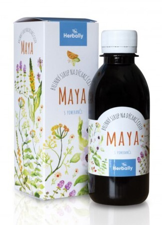 Zobrazit detail výrobku Herbally MAYA bylinný sirup na dýchací cesty s pomeranči 200 ml