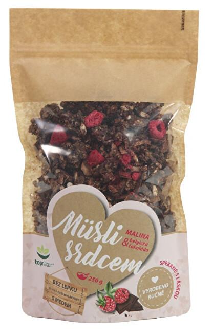 Zobrazit detail výrobku Topnatur Müsli srdcem Malina & Belgická čokoláda 250 g