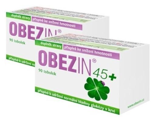 Zobrazit detail výrobku Danare OBEZIN® 45+ měsíční hubnoucí kůra 2 x 90 tobolek
