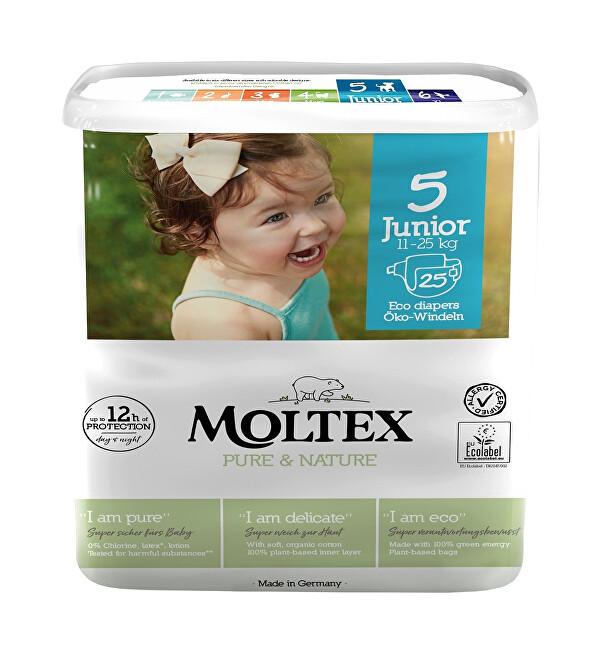 Zobrazit detail výrobku Moltex Pure & Nature Plenky Moltex Pure & Nature Junior 11-25 kg (25 ks)
