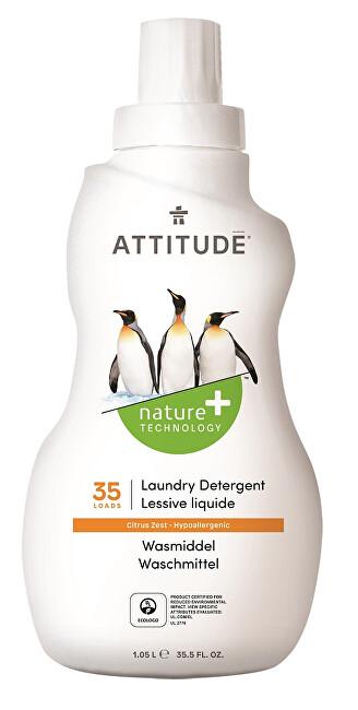Zobrazit detail výrobku ATTITUDE Nature+ Prací gel ATTITUDE s vůní citronové kůry 1050 ml (35 pracích dávek)