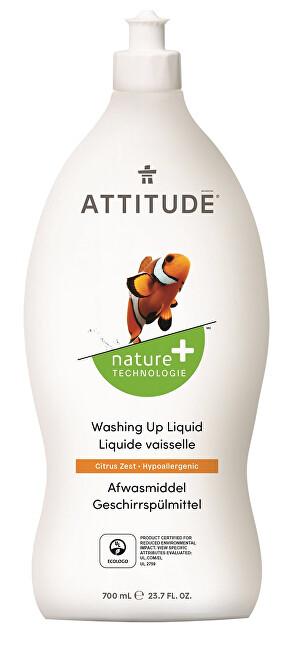 ATTITUDE Nature+ Prostředek na mytí nádobí ATTITUDE s vůní citronové kůry 700 ml