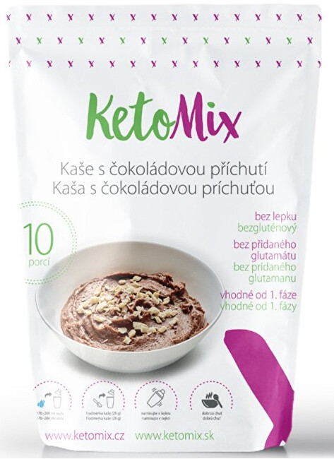Zobrazit detail výrobku KetoMix Proteinová kaše 280 g (10 porcí) - s čokoládovou příchutí