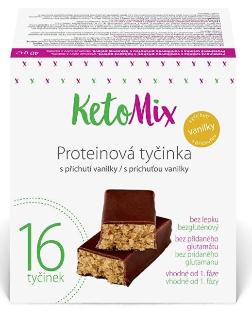 Zobrazit detail výrobku KetoMix Proteinové tyčinky 16 x 40 g