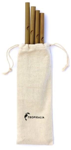 Zobrazit detail výrobku Tropikalia Set 4 bambusových brček s kartáčkem a obalem