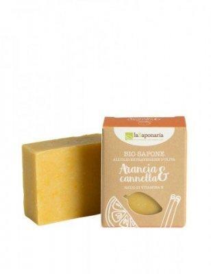 Zobrazit detail výrobku laSaponaria Tuhé olivové mýdlo BIO 100 g Pomeranč - skořice