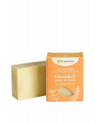 Zobrazit detail výrobku laSaponaria Tuhé olivové mýdlo BIO 100 g Měsíček a pšeničné klíčky