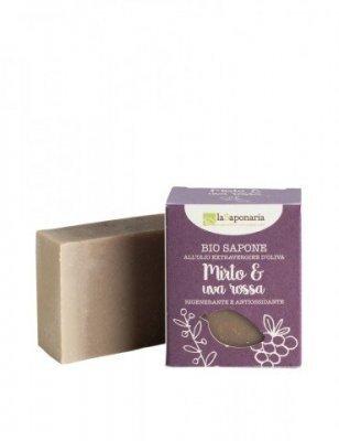 Zobrazit detail výrobku laSaponaria Tuhé olivové mýdlo BIO 100 g Myrta a červené hrozny