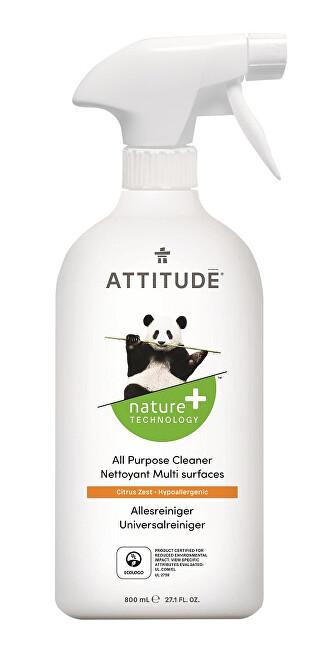 Zobrazit detail výrobku ATTITUDE Nature+ Univerzální čistič ATTITUDE s vůní citronové kůry s rozprašovačem 800 ml