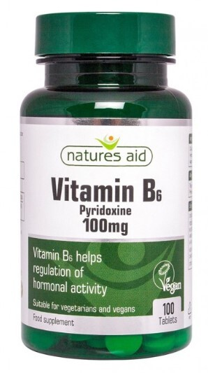 Natures Aid Ltd. Vitamín B6 - 100 mg (pyridoxín) 100 tabliet