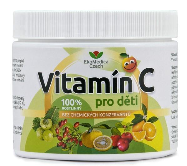 Zobrazit detail výrobku EkoMedica Czech Vitamín C pro děti 250 g
