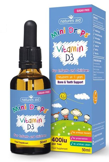 Zobrazit detail výrobku Natures Aid Vitamin D3 kapky pro děti (400iu) – 50 ml