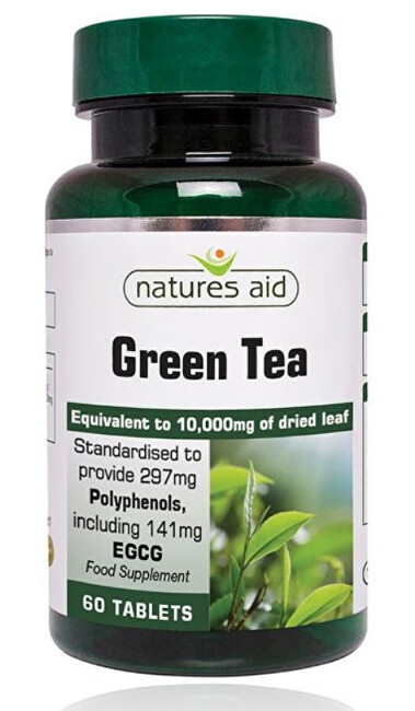 Zobrazit detail výrobku Natures Aid Zelený čaj 10 000 mg - 60 tablet