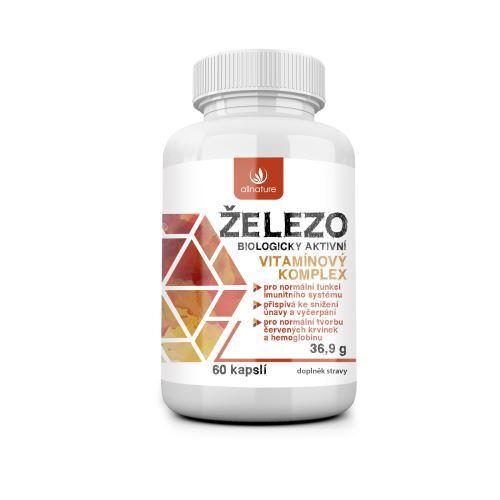 Zobrazit detail výrobku Allnature Železo - vitamínový komplex 60 kapslí