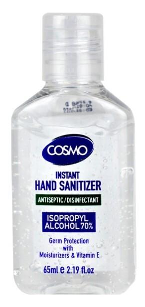 Zobrazit detail výrobku Cosmo Čistící gel na ruce s  antibakteriální přísadou 65 ml