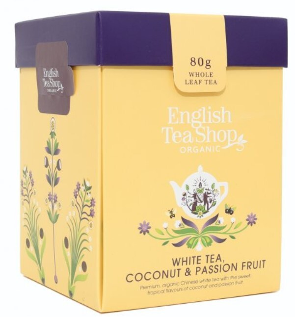 English Tea Shop Biely čaj, kokos, passion fruit sypaný bio 80 g