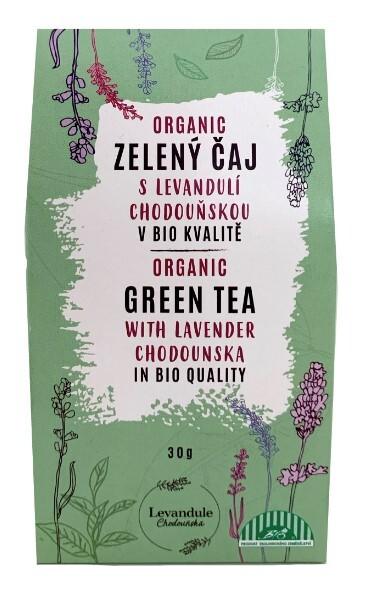 Zobrazit detail výrobku Levandulové Údolí Zelený čaj s levandulí Chodouňskou BIO 30 g