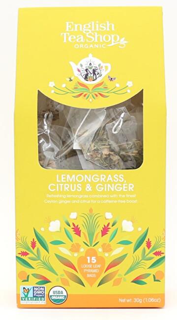 Zobrazit detail výrobku English Tea Shop Čaj Citrónová tráva, zázvor & citrusy 15 pyramidek