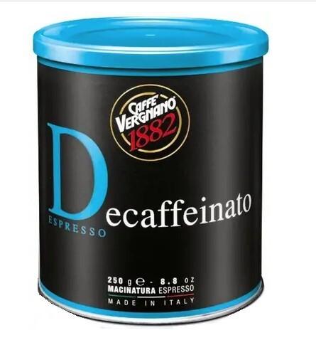 Zobrazit detail výrobku CASA DEL CAFE VERGNANO Káva mletá Vergnano Dec bezkofeinová 250 g