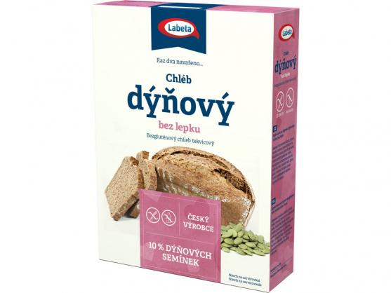 Zobrazit detail výrobku LABETA A.S. Dýňový chléb bez lepku 550 g - SLEVA - poškozená krabička