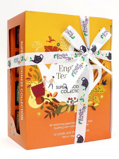 Zobrazit detail výrobku English Tea Shop 12 Pyramidek sypaných čajů, Supergoodness, bio