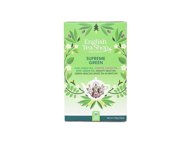 Zobrazit detail výrobku English Tea Shop MIX Vrcholně zelený, BIO 20 sáčků