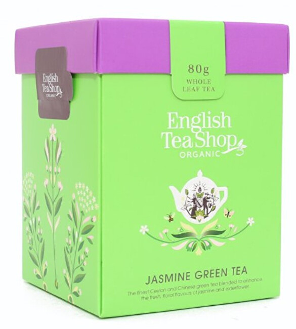 English Tea Shop Zelený čaj s jazmínom sypaný bio 80 g