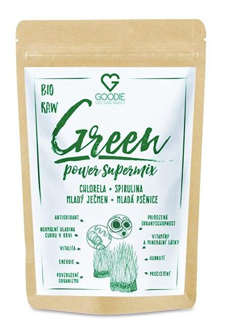 Zobrazit detail výrobku Goodie Green Power Supermix BIO 150 g (chlorela + spirulina + ječmen + pšenice)