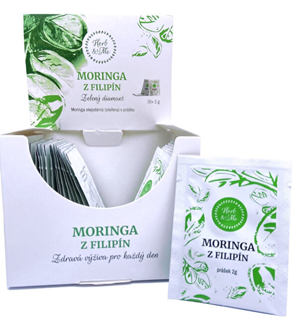 Zobrazit detail výrobku Herb & Me Moringa z Filipín v prášku, 30 x 2 g sáčky - měsíční kúra