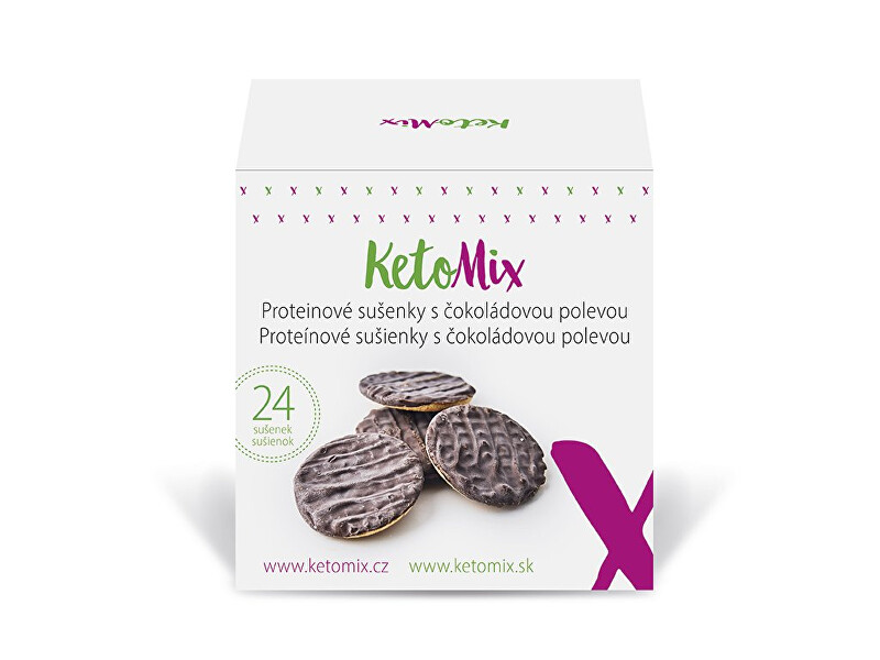 Zobrazit detail výrobku KetoMix Proteinové sušenky s čokoládovou polevou (24 sušenek)